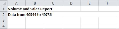 Excel How To Automate Dates in Titles 3