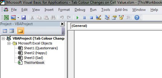 Excel How to Change Tab Colour VBA 2