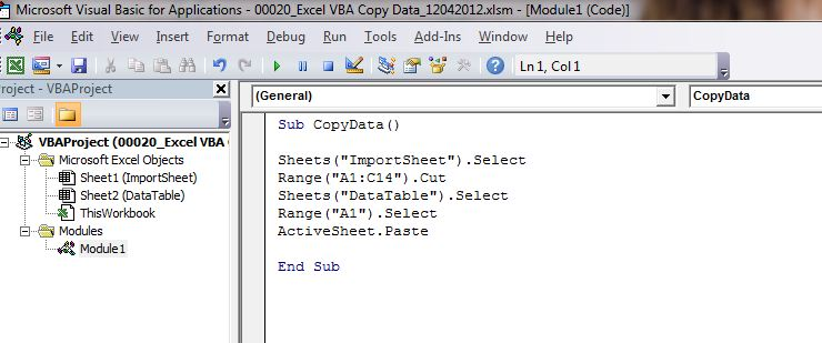 How to copy data to another worksheet with Excel VBA ...