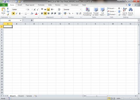 VBA Clear Entire sheet in Excel | Dedicated Excel