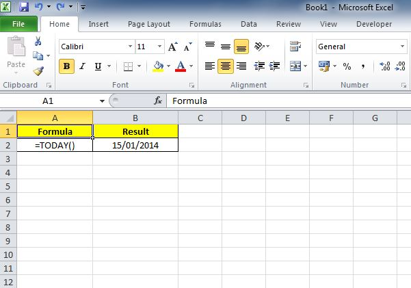 00071_Today and Now Function in Excel_01