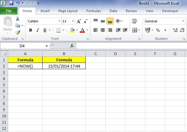 00071_Today and Now Function in Excel_02