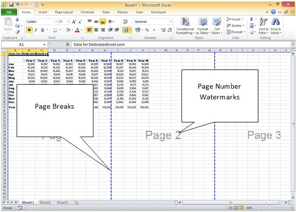 how to insert page numbers on multiple sheets in excel how to number pages at the bottom in. Black Bedroom Furniture Sets. Home Design Ideas
