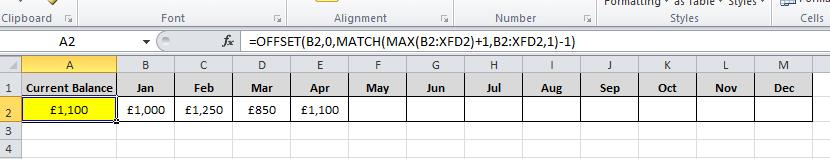 how to use last in formula in excel