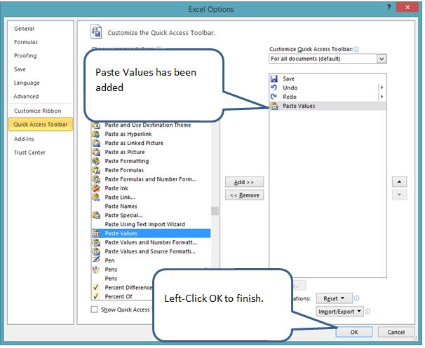 how to add quick print command to quick access toolbar