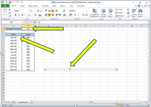 how to create an x bar chart in excel