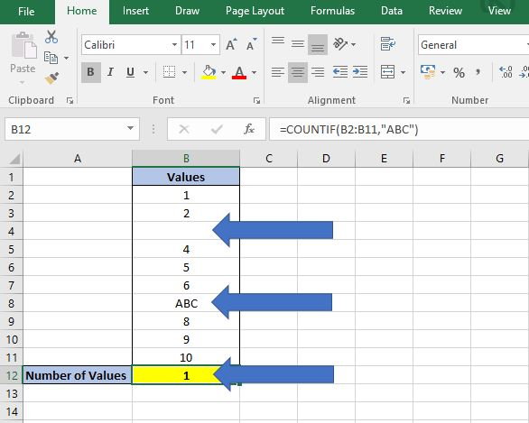 How to Count in Excel - Values, Text and Blanks | Dedicated Excel