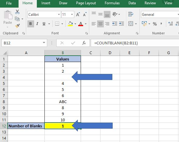 How to Count in Excel - Values, Text and Blanks | Dedicated
