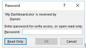 password on excel file
